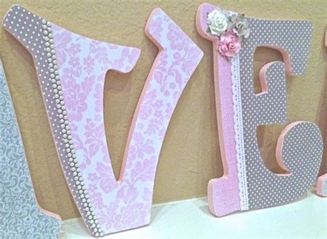 How To Decorate Wooden Letters For Nursery Custom Nursery Letters For Pink And Grey Nursery Decor Wooden Letters Personalized Name