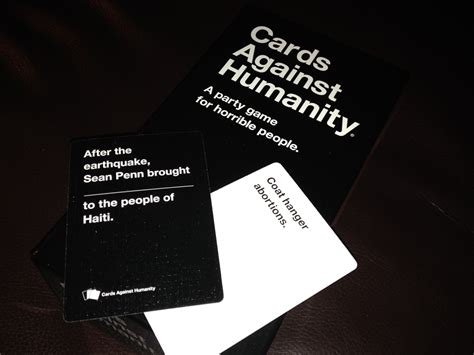 how to make cards against humanity cards against humanity a for horrible