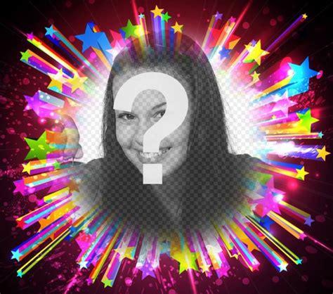 cornici luminose cornice per foto con stelle colorate luminose fotoeffetti