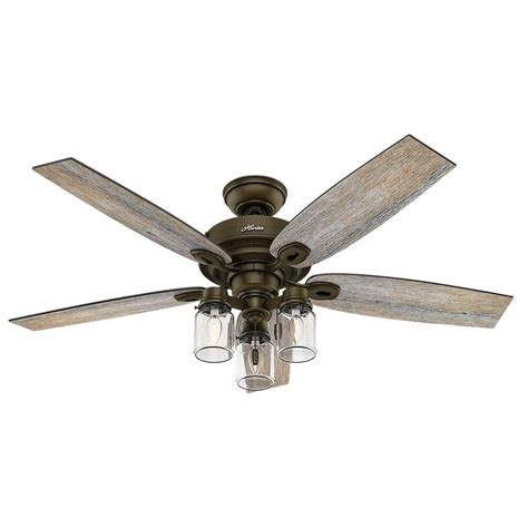 Hunter Crown Canyon 52 In Indoor Regal Bronze Ceiling Fan