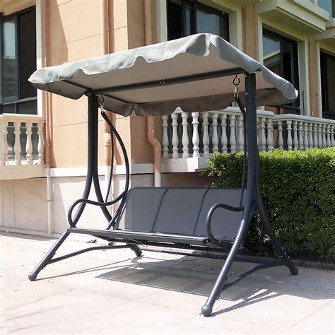 balcony swing chair indoor and outdoor patio swing chair three bit double