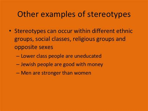 lesson 9 stereotypes