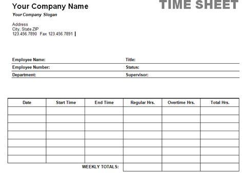printable weekly time sheet timesheet print