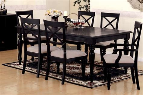 black dining room table set country dining table set black country table set country