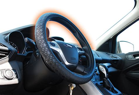 heated steering wheel cover  sharper image