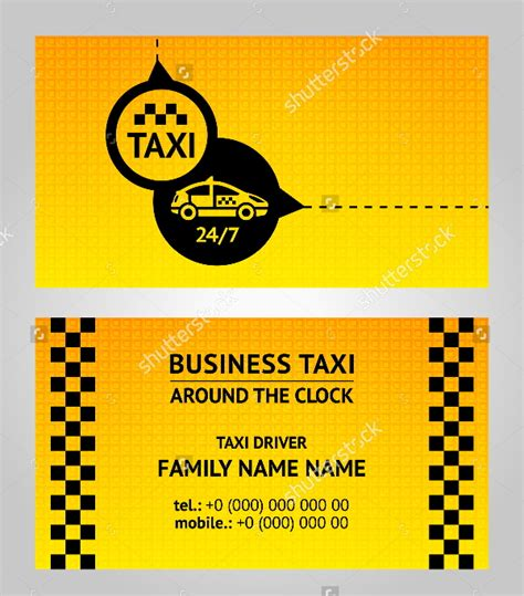 School Driver Business Card Template by 12 Taxi Business Card Templates Free Premium Templates
