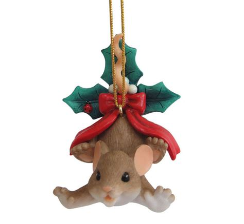 charming tails ornaments new charming tails mouse ornament poinsettia bow