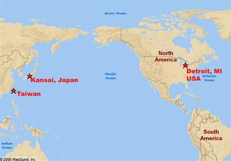 america and japan map taiwan international c 2007