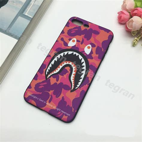 Iphone 6 6s Bape Bathing Ape Stickerbomb Shark Hardcase Cover 1pcs bape a bathing ape camo shark soft phone