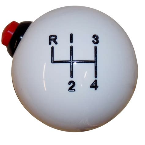 4 Speed Shifter Knob by White 4 Speed Side Button Shift Knob