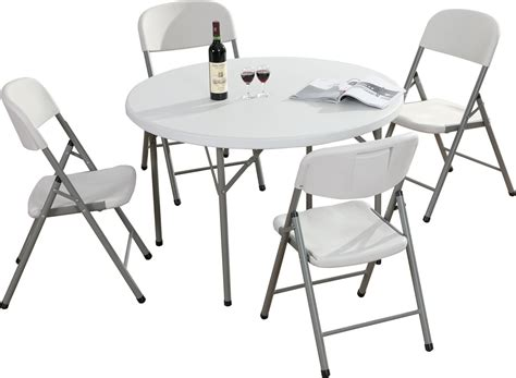 4 foot round table 4ft round plastic small folding table