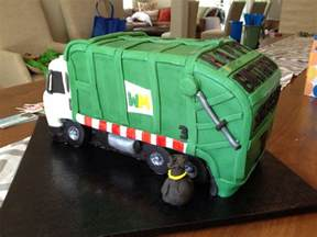 garbage truck birthday cake i was asked to make a garbage flickr