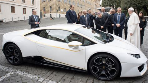 La Machina by Pope Francis Just Got A Brand New Lamborghini Huracan Which Sure Beats The Popemobile Maxim
