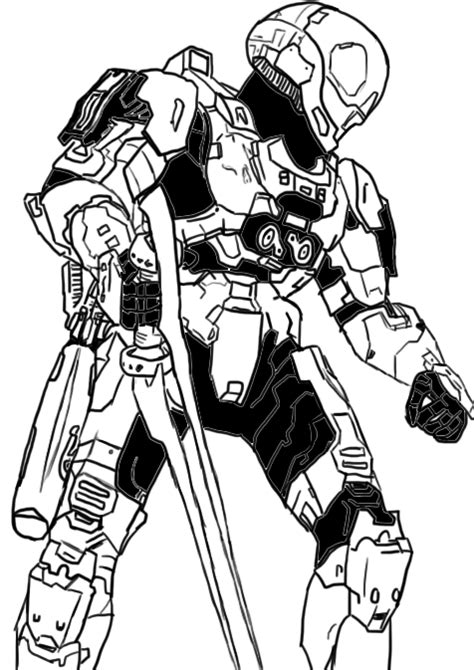 free halo eva spartan coloring pages