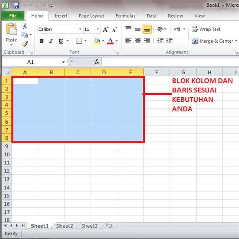 membuat tabel menu html tips cara membuat tabel di microsoft excel 2010 panduan