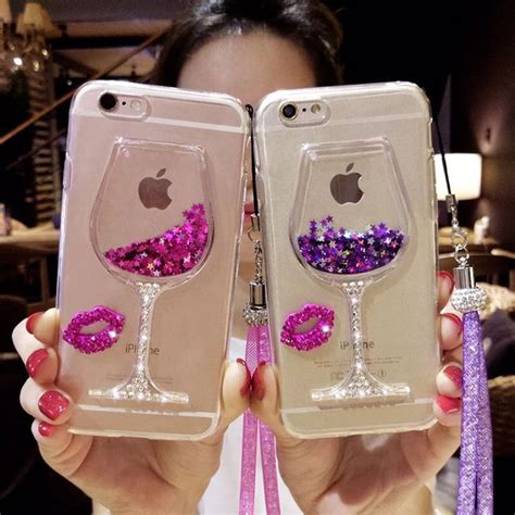 bling bling iphone     liquid wine cup glitter
