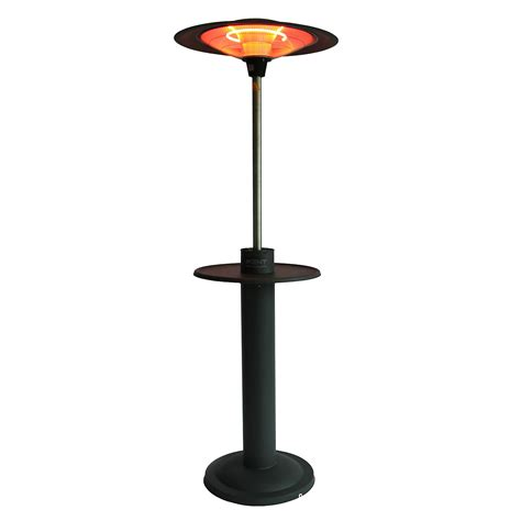Electric Patio Heaters Uk Outtrade Free Standing Electric Patio Heater With Table Halogen The Uk S No 1 Garden