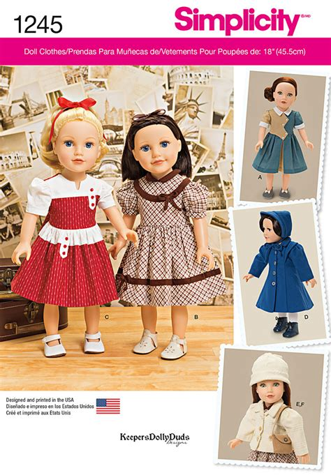 embonpoint vintage pattern review simplicity 1245 vintage style 18 quot doll clothes