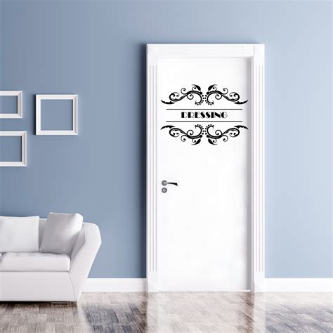 stickers porte chambre sticker porte dressing orn 233 stickers citations chambre