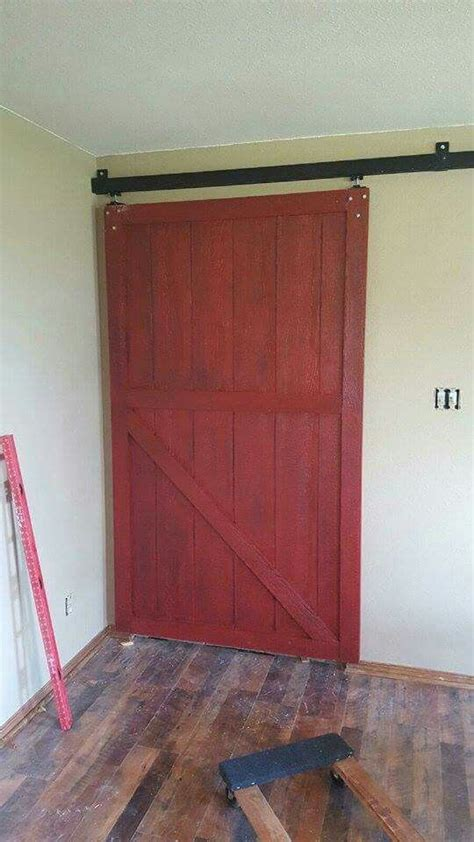 Barn Door Husband Made I Painted And Antiqued I Did Painted Barn Doors