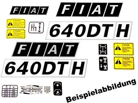 Fiat Schriftzug Aufkleber by Aufklebersatz Fiat Traktor Typenschild Fiatagri Schlepper