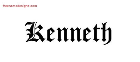 tattoo lettering kenneth kenneth archives free name designs