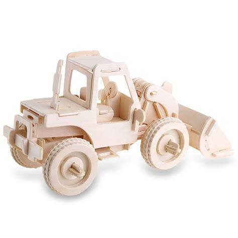 Mainan Edukatif 3d Puzzle Robotime Diy Construction Vehicle Classiccar popular 3d forklift buy cheap 3d forklift lots from china