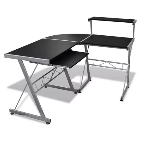 Computer Desk With Pullout Keyboard Tray Computer Desk Workstation With Pull Out Keyboard Tray Black Vidaxl