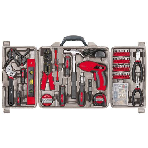 Tool Kit Set Besar Murah apollo 161 household tool kit with 4 8 volt screwdriver dt0738 the home depot