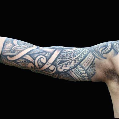 Sleeve Grey Half Tribal 75 half sleeve tribal tattoos for masculine design ideas