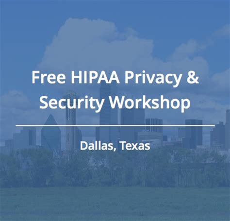 join us for a free hipaa workshop in dallas cynergistek