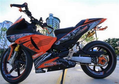 Modifikasi Jupiter Mx King by Contoh Modifikasi Jupiter Mx King Paling Sporty Di 2017
