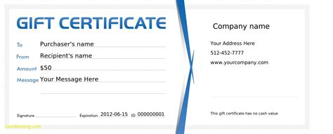 create your own gift certificate template free best of template for gift certificate best templates
