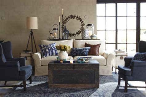 modernizing and eclecticizing a pottery barn living room sneak peek pottery barn s 2014 indigo spring collection