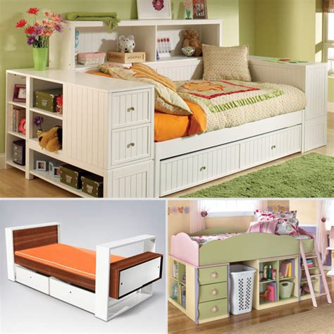 kids storage bed children s beds with storage popsugar moms