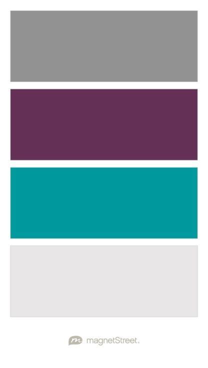 teal color palette classic gray eggplant teal and winter white wedding