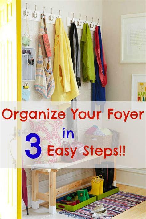 foyer organization 12 week organizing series organizing the foyer