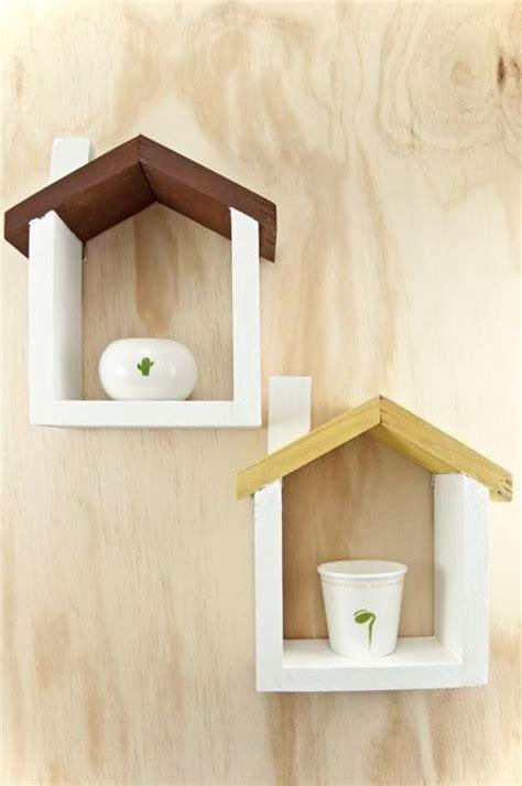 handmade wooden house floating shelf small