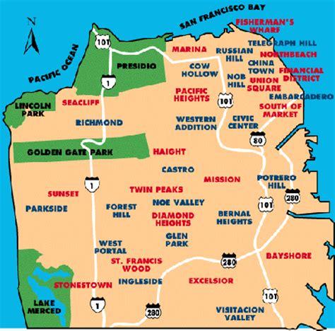 san francisco hearts map map of san francisco