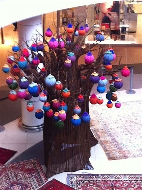 tree at tyger valley centre in cape town baobab decorated with shweshwe balls