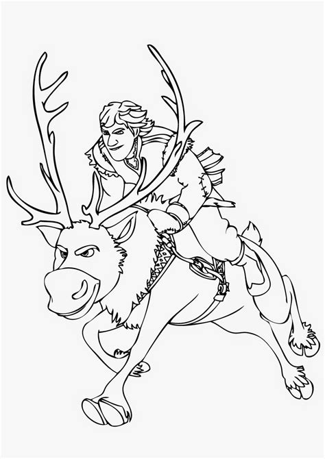 coloring pages frozen sven free coloring pages of sven