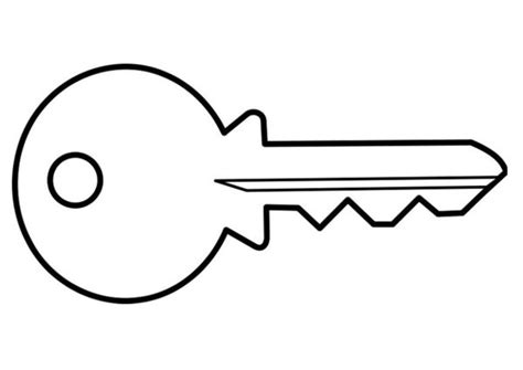 Coloring Page Of Key | coloring pictures keys only coloring pages