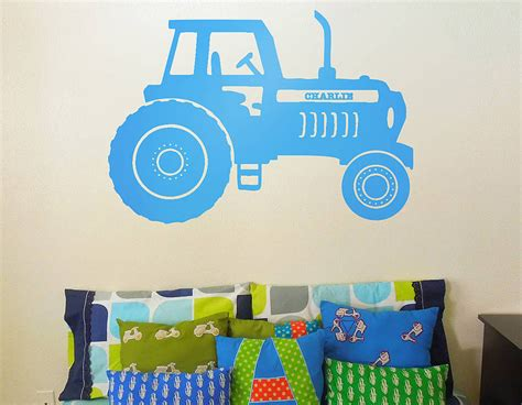 tractor wall stickers personalised tractor vinyl wall sticker contemporary