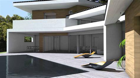 Garage Plan Design maison contemporaine d architecte 224 toiture tuiles noires