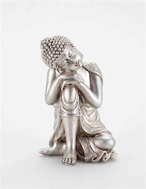 buddha bedroom relaxed buddha silver statues decorations