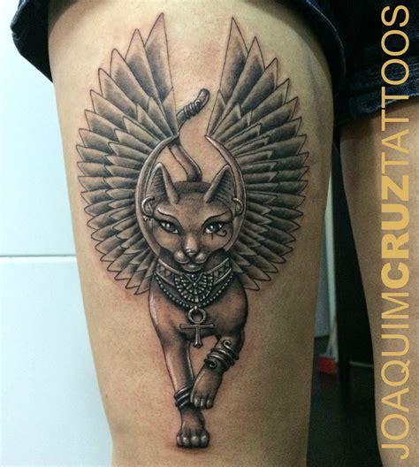 cat tattoo artist bastet coxa bastet leg power estudios lojas de