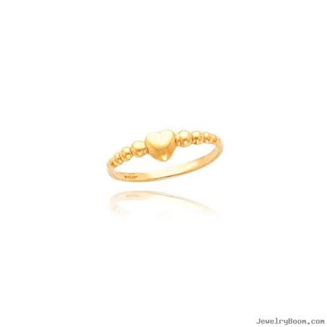 14k gold beaded band baby ring rings