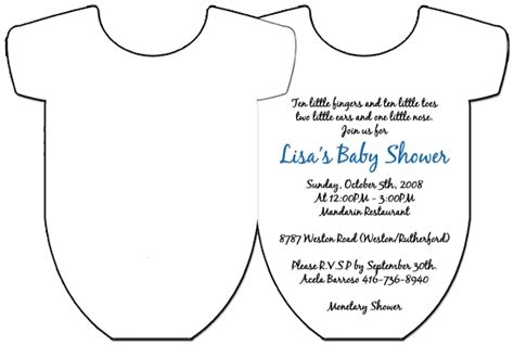 Free Onesie Card Templates For Baby Boys by Onesie Invitation Template Songwol 9b6c7a403f96