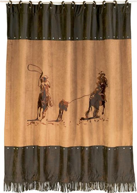 western cowboy shower curtain texas bathroom accessories and decor