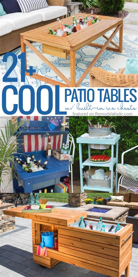 Patio Table With Built In Cooler For Sale by Remodelaholic Brilliant Diy Cooler Tables For The Patio